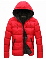 Dual Color Warm Hoodie Winter Coat Outwear Padded Jacket For Unisex