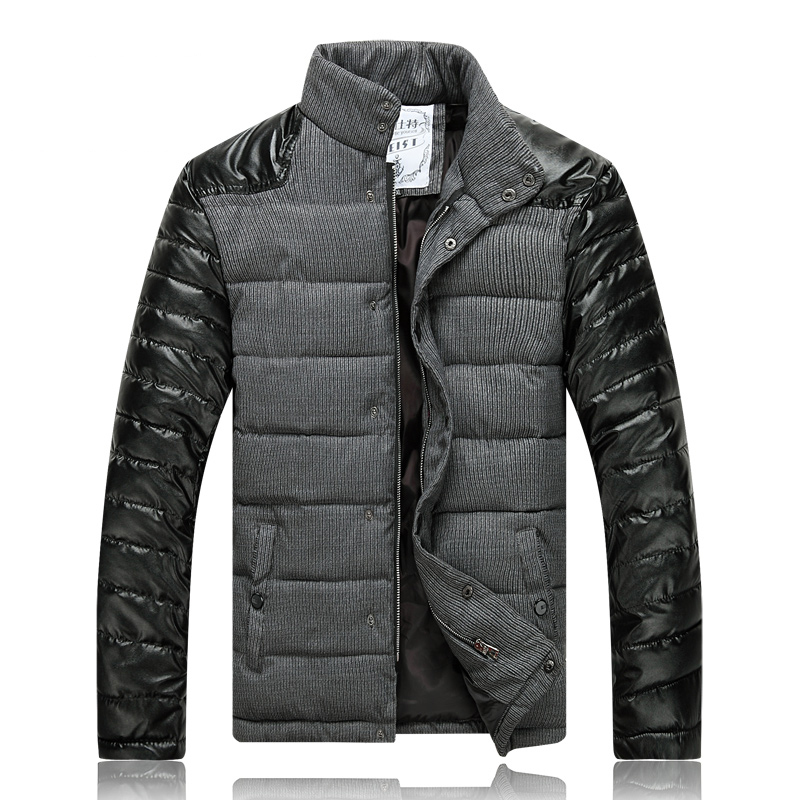 Men-Slim-Designed-PU-Short-Jacket-Coat