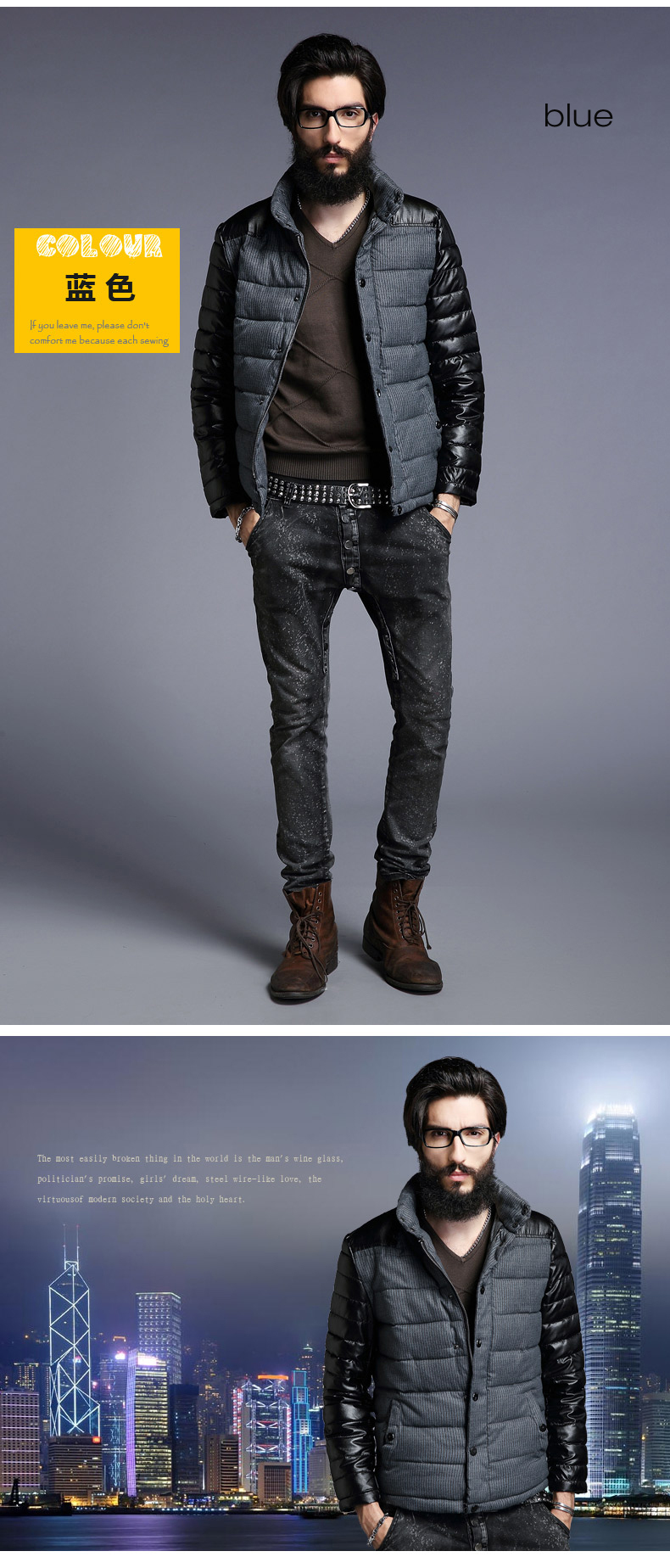 Men-Slim-Designed-PU-Short-Jacket-Coat-15