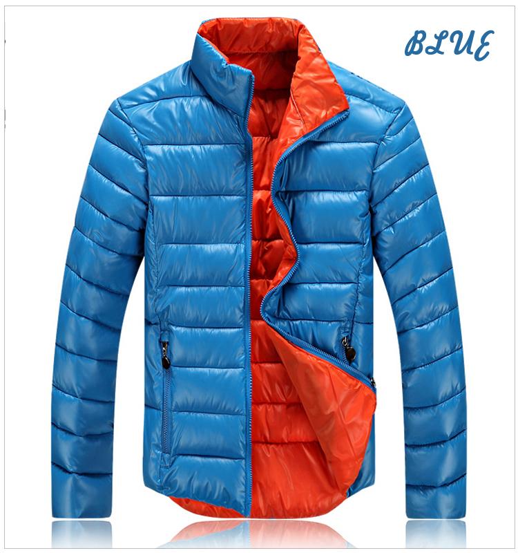 Unisex Colorful Lapel Thick Slim Winter Coat Jacket