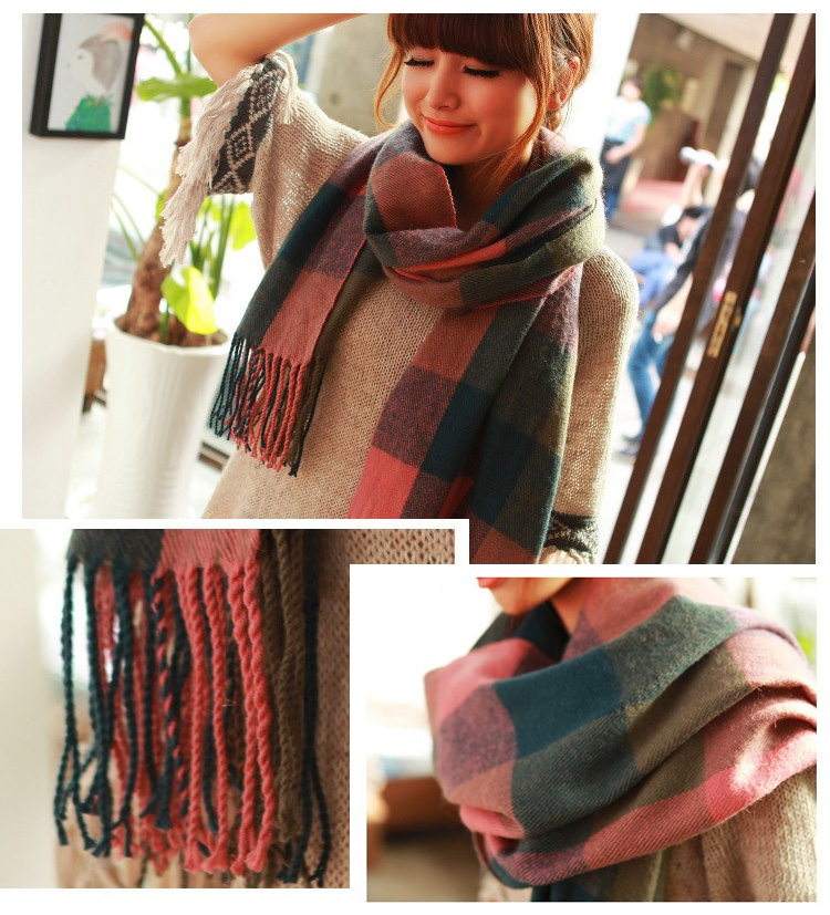 cashmere-scottish-plaid-design-wool-shawl-scarf-d01