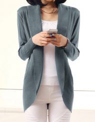 ladies-front-opening-long-sleeve-casual-knit-sweater-coat-gray