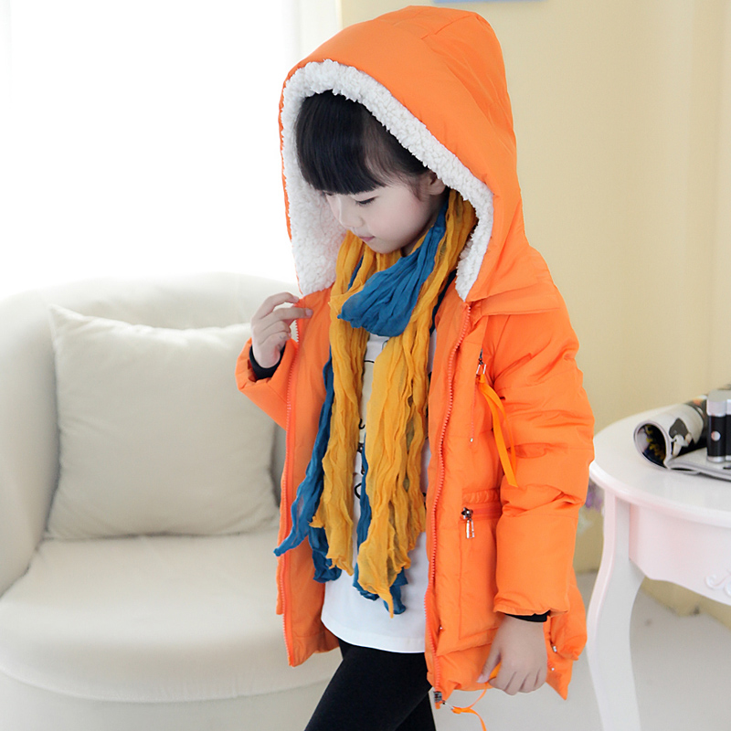 bfbfc6053 Kids Boys Girls Duck Down Warm Hoodie Long Winter Coat Jacket ...