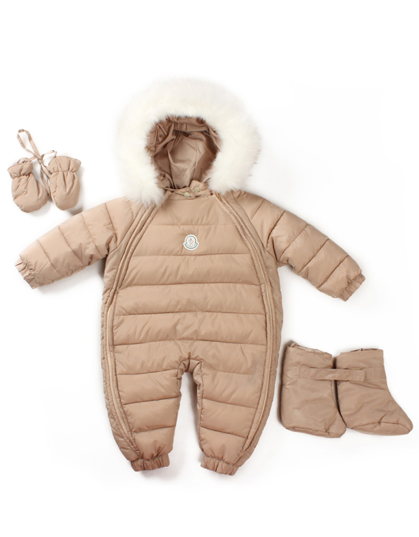 f87ffa7ef Boys Girls Baby Warm Winter Clothes Down Outerwear Wear Fur Trimmed Hoodie  Jumpsuit - Winter Clothes