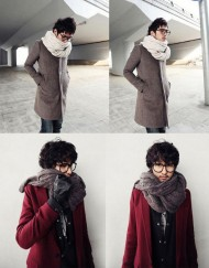 Unisex Fashion Korean Winter Braided Knit Wool Long Scarf Wrap Shawl