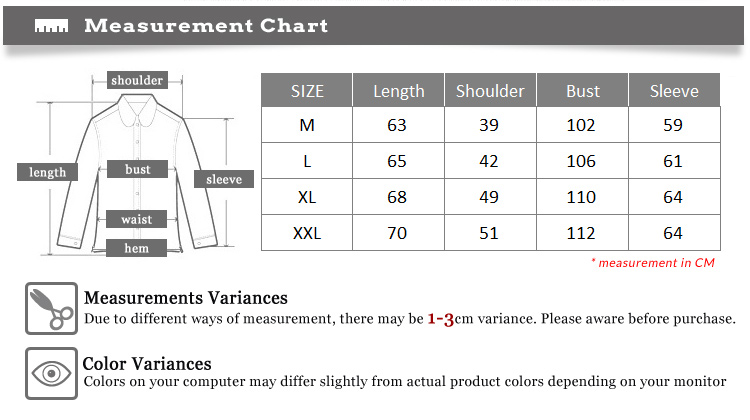 top-only-measurement-charts