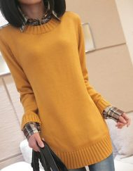 womens-colar--loose-sweater-knit-top