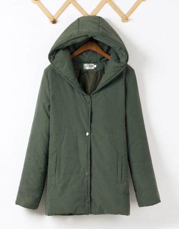 Women's Plus Size Jacket Hooded Cotton Down Winter Coat ...