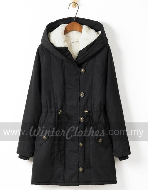 60b76fe2b Women's Plus Size Winter Long Coat Hooded Inner Cashmere Layer Winter Jacket.  RM199.00 RM139.00. Sale!