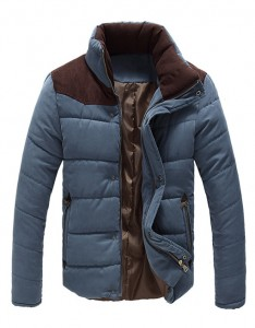 Men's Outdoor Stand Collar Cotton Padded Winter Coat Jacket