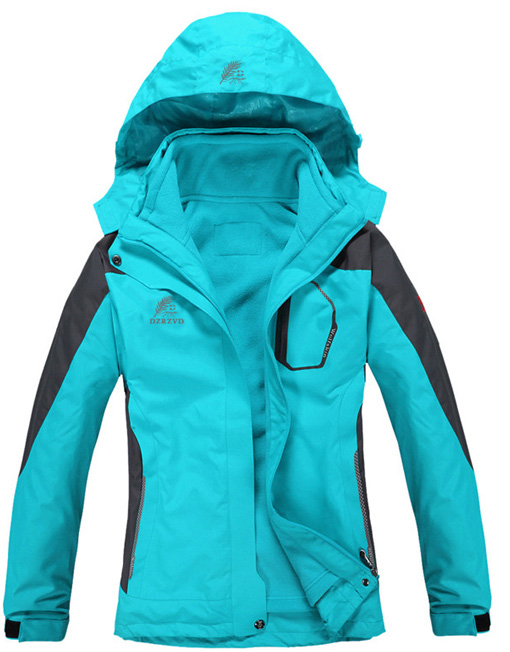 Women's Waterproof 3-in-1 Hiking Jacket with Inner Fleece Jacket ...