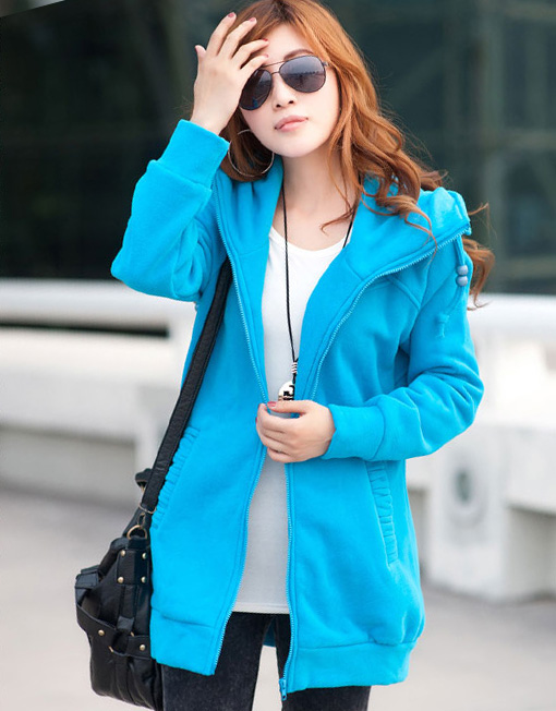 Women's Plus Size Zipped Up Hoodie Winter Coat