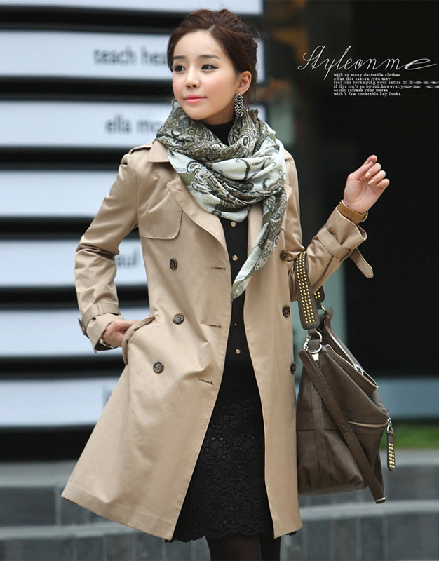 Womens Classic All Weather Slim Fit Trench Coat Winter Clothes
