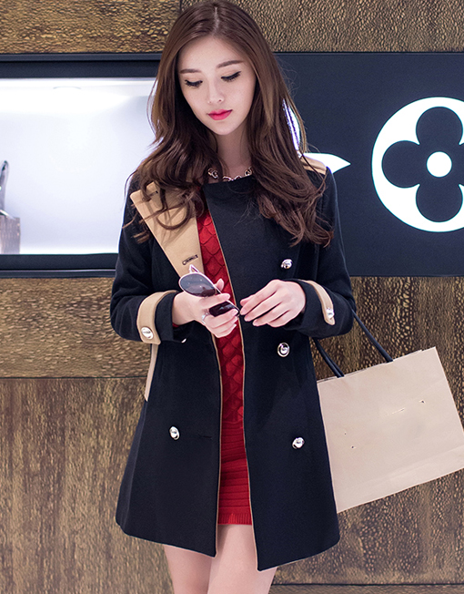 224a4b106cf Women Korean Fashion Slim Fit Long Boucle Jacket - Winter Clothes
