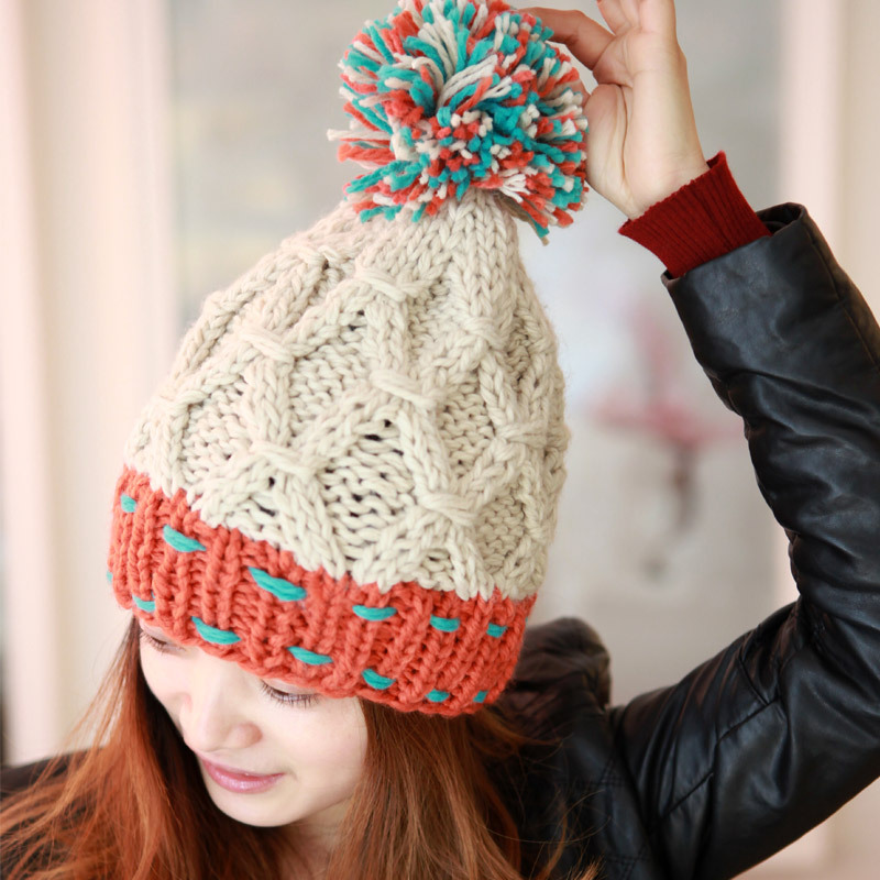 Women s Fashion Korean Winter Knit Hat - Winter Clothes 299a704d045