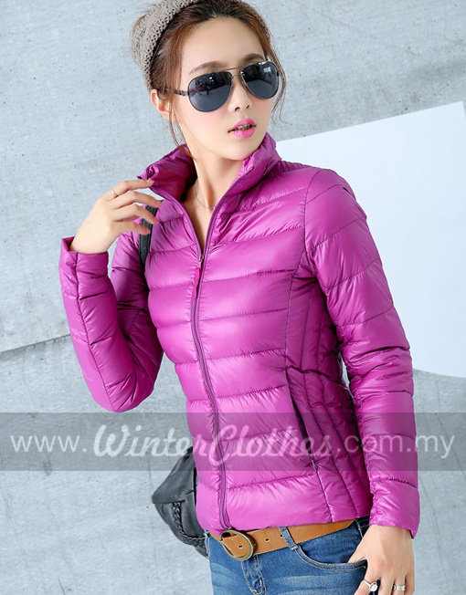 Women Stand Collar Ultra Light Down Jacket