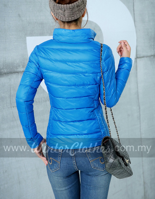 Women Stand Collar Ultra Light Down Jacket