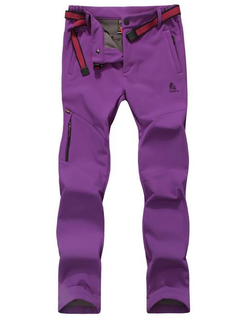 Women's Hiking Pants Fleece Lining Waterproof Strectable ...
