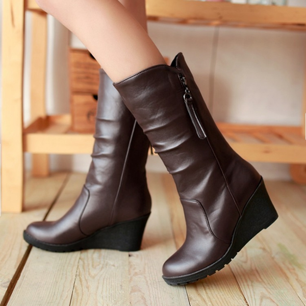 womens-pu-leather-wedge-heel-cashmere-lining-winter-boots-d6