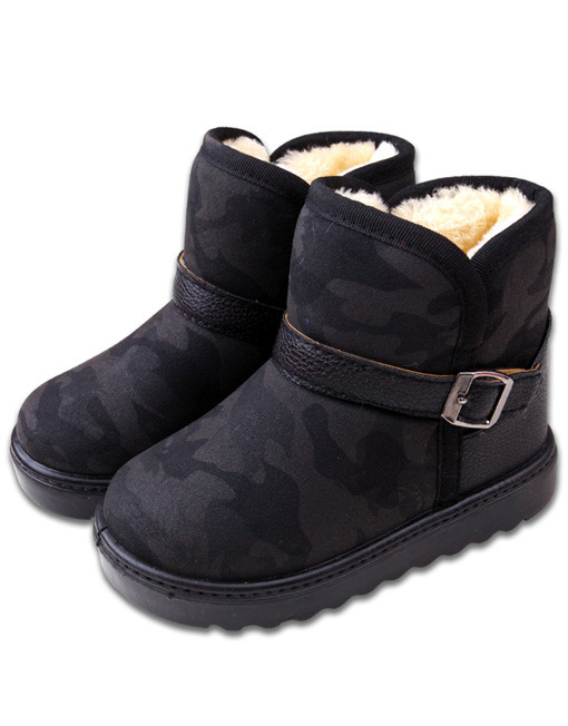 Toddlers Small Kid Camo Fleece Lining Warm Winter Boots