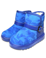 toddlers-small-kid-camo-fleece-lining-warm-winter-boots-blue