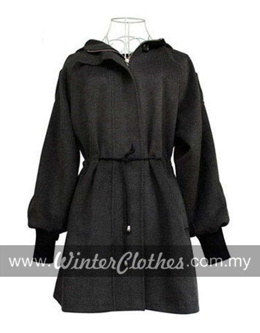 Korean Style Cotton Padded Mid Long Lady Boucle Coat