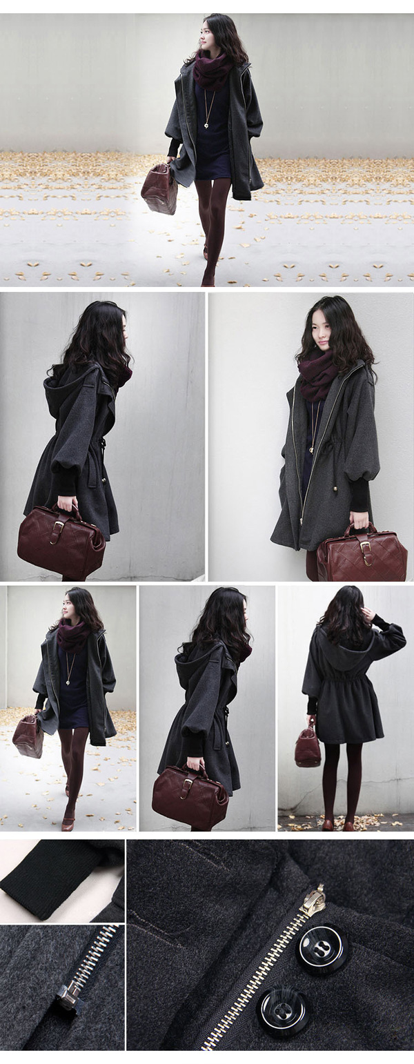 korean-style-cotton-padded-mid-long-lady-boucle-MODEL-SHOW