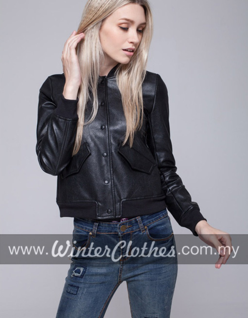 Classic Leather Bomber Jackets for Women - Winter Clothes