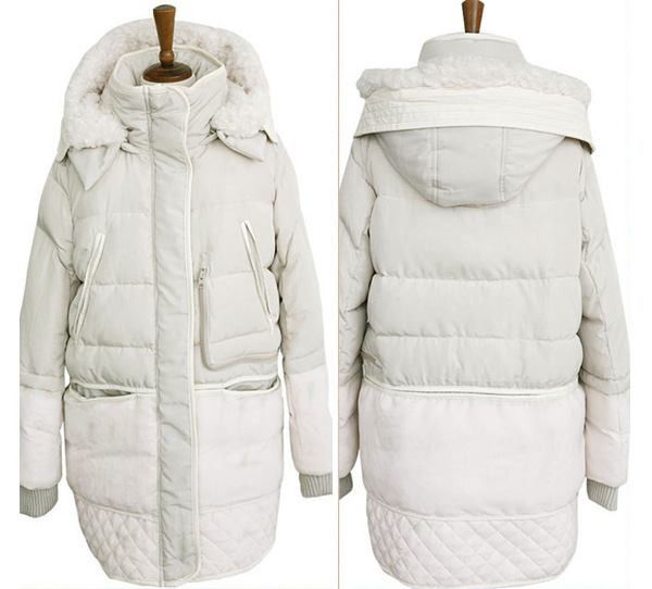 Oversize Fleece Lining Winter Down Jacket For Women - Winter Clothes
