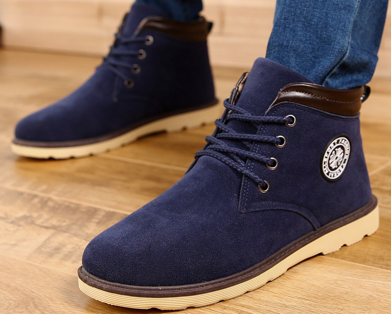 s winter shoes suede leather fleece lining casual