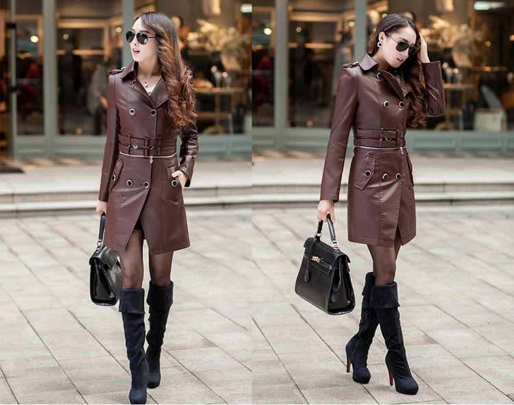 pu-leather-middle-long-women-biker-coats-model-show-1