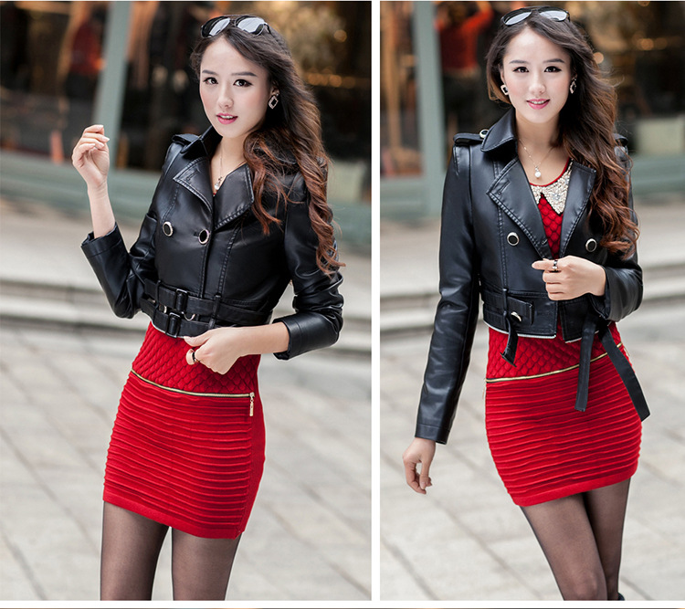 pu-leather-middle-long-women-biker-coats-model-show-2