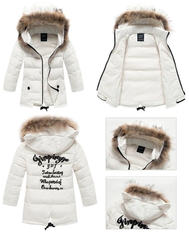 5b83347c0 Cute Girl s Winter Wear Fur Trim Hoodie Winter Down Jacket - Winter ...