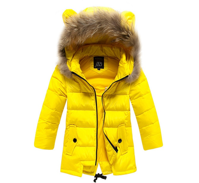 Girls Yellow Coat Han Coats