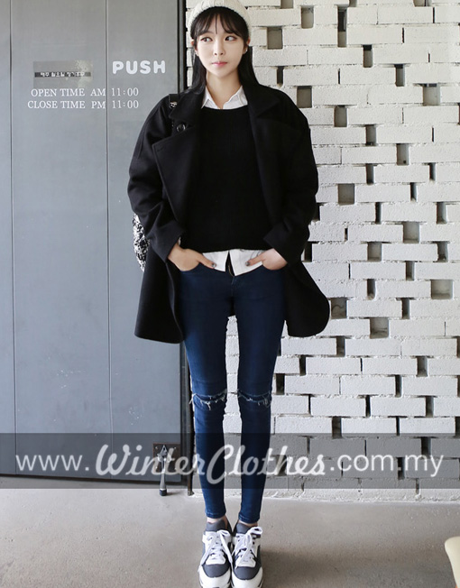 Korean Style Simple Casual Oversize Winter Coat Winter