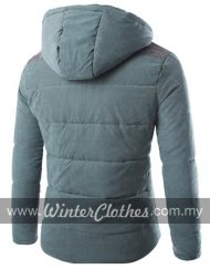 Men Removable Hooded Cotton Padded Winter Jacket