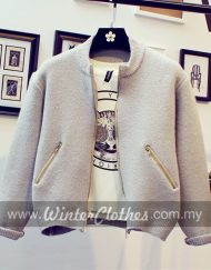WM510girly-knitwear-bomber-winter-jacket-m-grey