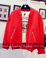 WM510girly-knitwear-bomber-winter-jacket-m-red
