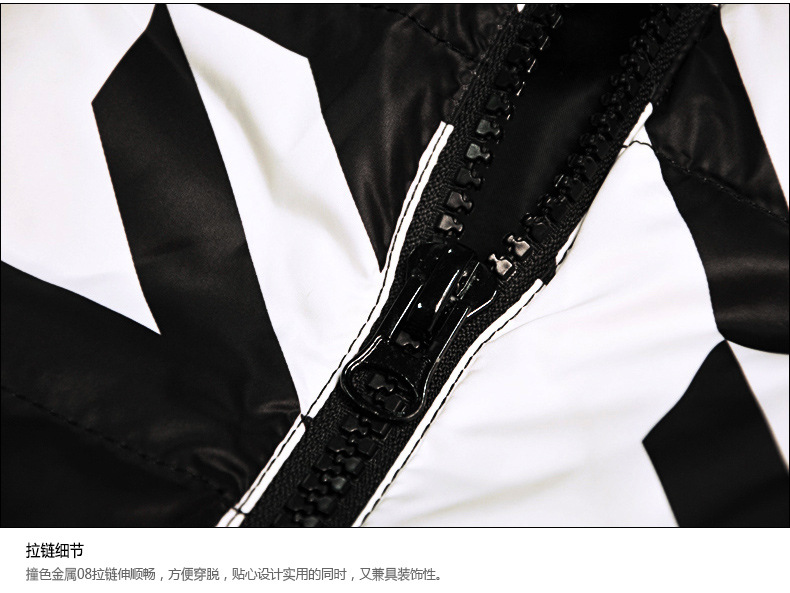 black-&-white-geometric-print-winter-down-jacket-d01