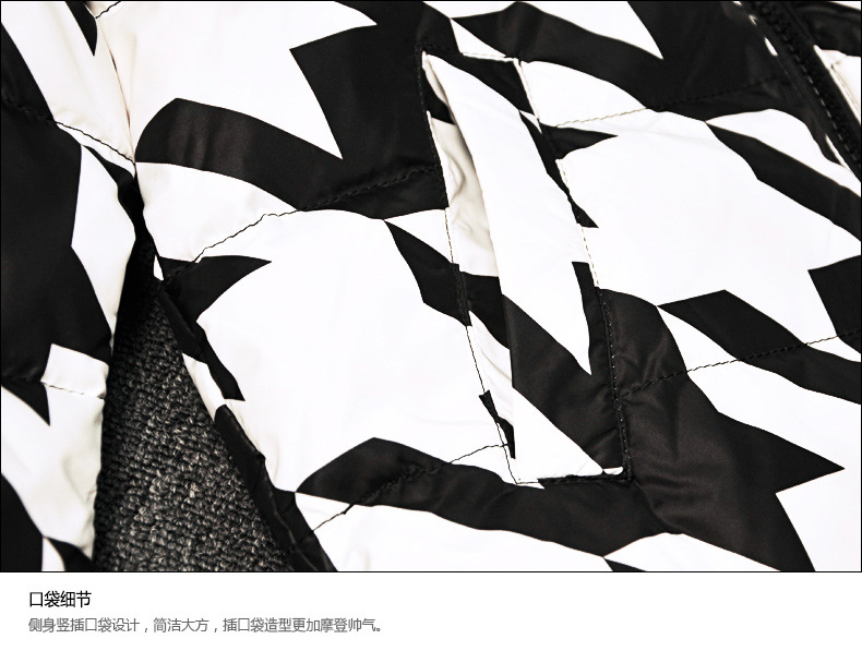 black-&-white-geometric-print-winter-down-jacket-d04