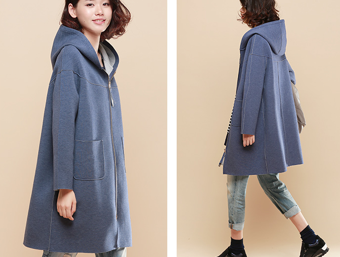 neoprene-effect-knee-length-hoodie-plus-size-coat-D001