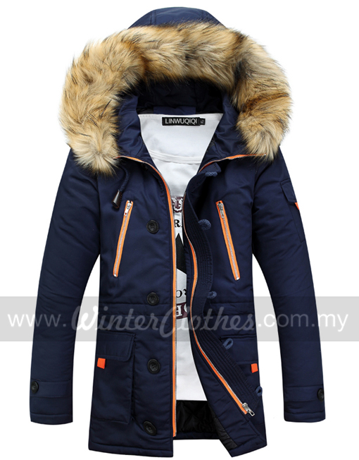 sports shoes d80b9 0884f Fur Trimmed Hooded Winter Coat Jacket with Cotton Padded