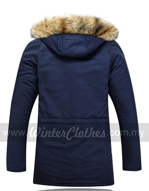 Fur Trimmed Hooded Winter Coat Jacket with Cotton Padded