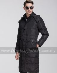 Long Winter Down Jacket Knee Length Coat Plus Size