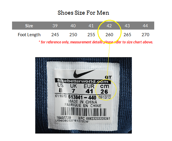 HOW TO CHOOSE A SHOES SIZE
