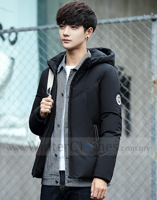 410416414 Korean Style Slim Fit White Duck Down Winter Jacket