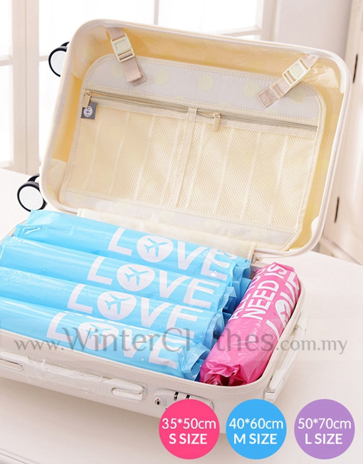 Winter Clothes Vacuum Storage Bag Easy Roll Compress