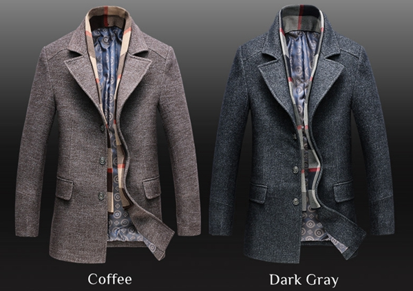 c582439d9f19 Smart Casual Winter Trench Coat for Men - Winter Clothes