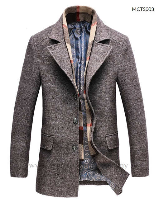 Smart Casual Winter Trench Coat for Men