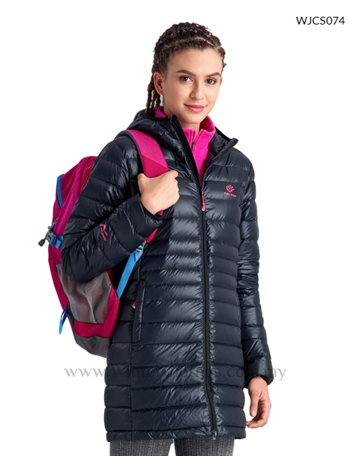 Women Mid Length Lightweight Cocoon Winter Down Jacket